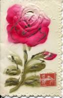 N°27802 -cpa Double En Relief -fleur- - Fantaisies