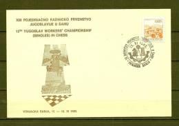JUGOSLAVIJA, 13/11/1983 Pojedinacno Radnicko Prvenstvo - VRNJACKA  (GA7118) - Schaken