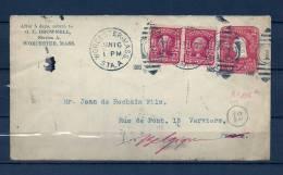 Brief Van Worcester Mass Naar Verviers (Belgium) 16/01/1905 (GA6833) - Postzegels