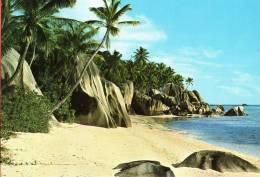 POSTAL BEACH AT L'UNION  LA DIGUE SEYCHELLES - Seychellen