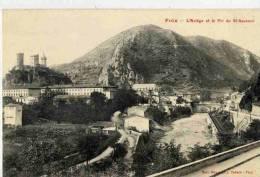 CPA 09 FOIX L'ARIEGE ET LE PIC DU SAUVEUR - Foix