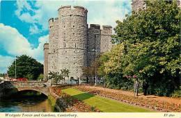 CANTERBURY. LA TORRE E I GIARDINI DI WESTGATE. CARTOLINA ANNI '70 - Canterbury