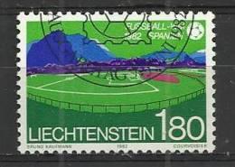 LIECHTENSTEIN 1982 - FOOTBALL WORLD CUP 180 - USED OBLITERE GESTEMPELT USADO - 1982 – Espagne