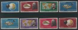PARAGUAY  Space+Da Vinci Set 8 Stamps Imperf.  MNH - Space