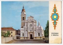 EUROPE SLOVENIA BREZJE ON GORENJSKEM THE CHURCH BIG POSTCARD 1964. - Slovenia