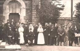 CARTE PHOTO NON IDENTIFIEE REPRESENTANT DES SOLDATS BLESSES ET DES INFIRMIERES PAS CIRCULEE - War 1914-18