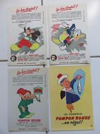 Buvards Pompon Rouge Timbre Mickey Donald Bambi Simplet - Collezioni & Lotti