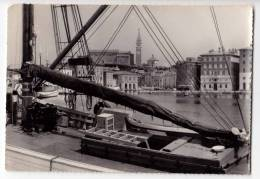 EUROPE SLOVENIA PIRAN THE SHIP BIG POSTCARD 1966. - Slovenia