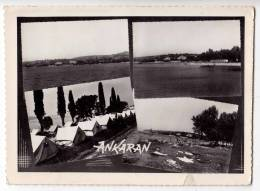 EUROPE SLOVENIA ANKARAN THE COAST AND CAMP BIG POSTCARD 1961. - Slovenia