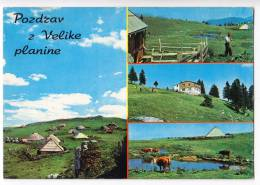 EUROPE SLOVENIA VELIKA PLANINA THE BIG MOUNTAIN VARIOUS PARTS BIG POSTCARD - Slovenia