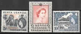 Kenya Uganda Tanganyika 1954-58 Definitives MNH CV £132 (2 Scans) - Kenya, Uganda & Tanganyika