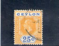 CEYLAN 1921-8 O - Ceylon (...-1947)