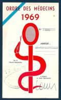*** NOUZONVILLE Ardennes - Véritable Caducée Stationnement Ordre Des Médecins 1969 - Vieux Papiers