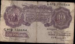 BILLET DE DIX SCHILLINGS PERIODE 1940-48 - …-1952 : Before Elizabeth II