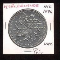 Nouvelle Zélande  -  1 Dollar  -  1974  -  Cuivre Nickel  -   UNC - New Zealand