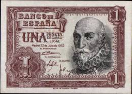 TRES TRES BEAU BILLET DE UN PESETAS _ ISSUE DE 1953 - [ 3] 1936-1975 : Régence De Franco