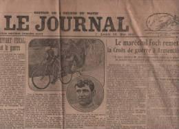 LE JOURNAL 23 05 1921 - CYCLISME - ARMENTIERES FOCH - MUTILES - SUEDE BOLCHEVIK - BRETAGNE - ALLEMAGNE - Sonstige