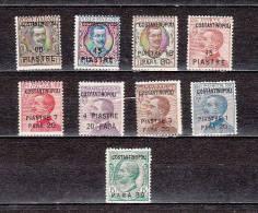 ITALY-OFF.ABROAD-CONSTANT INOPLE.-1923-Sc#.14-22-MINT NH VF-EURO 65.00.--SALE $ 20.00 - 11. Uffici Postali All'estero