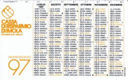 CALENDARIETTO PLASTIFICATO - CASSA DI RISPARMIO DI IMOLA 1997 - Calendari