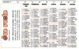 CALENDARIETTO PLASTIFICATO - DUE RUOTE 1998 - Calendari