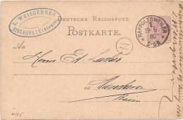 A175 - RAPPOLTSWEILER - 1880 - RIBEAUVILLE - Haut Rhin - Entête WEISBERGER - Elsass-Lothringen