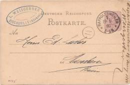 A175 - RAPPOLTSWEILER - 1880 - RIBEAUVILLE - Haut Rhin - Entête WEISBERGER - Poststempel (Briefe)