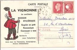 PUB - LA VIGNONNE - Boisson Hygiénique - Werbepostkarten