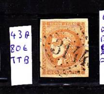 BORDEAUX NO 43A - 1870 Bordeaux Printing