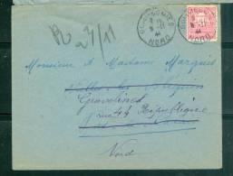 Yvert N°625 (arc De Triomphe) Sur Lettre Oblitéré Gommegnies Nord Le 09/11/1944 Pour Gravelines - Lp26446 - 1944-45 Arc De Triomphe