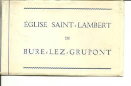Bure Lez Grupont Eglise Saint Lambert  POCHETTE VIDE  !!! - Tellin