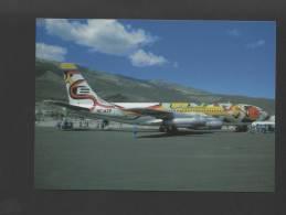 -postcard AIRCRAFT BOEING 720 ECUADOR EQUATORIANA AIRCRAFTS AVIONES AIRPLANES - - 1946-....: Moderne