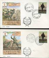 Italia,  2 Covers Fdc 1967 Resistence On The Piave, Postmarks San Dona Piave,  Musile - Prima Guerra Mondiale