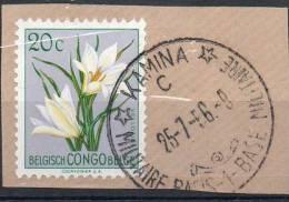 Congo - Kamina Bas Militaire -1 C (keach 14B(C)1-) - 1956 - Fleurs - DD6 - Congo Belge