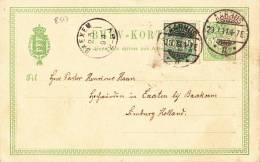 8517# DANEMARK CARTE POSTALE Obl AARHUS 1894 Pour BAEXEM DANMARK DENMARK - 1864-04 (Christian IX)