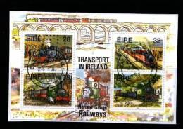 IRELAND/EIRE - 1995  TRANSPORT IN IRELAND  RAILWAYS   MS FINE USED - Irlanda