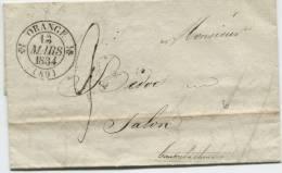 ORANGE (Vaucluse) Cachet à Date Type 12 - 1801-1848: Précurseurs XIX