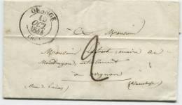 ORANGE (Vaucluse) Cachet à Date Type 13 - 1801-1848: Précurseurs XIX