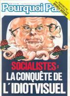 """Couverture De L´hebdomadaire Belge """"POURQUOI PAS"""" Avec Comme Sujet 'SOCIALISTES - LA CONQUETE DE L'IDIOTVISUEL' - Posters"""