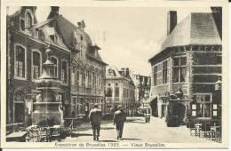 BELGIQUE . BRUXELLES .EXPOSITION  1935 . VIEUX BRUXELLES . FONTAINE DES SATYRES - Expositions Universelles