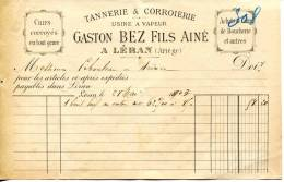09.ARIEGE.LERAN. TANNERIE,CORROIERIE.GASTO N BEZ FILS AINE USINE A VAPEUR. - Frankrijk