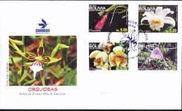 Bolivia 2012 ** CEFIBOL 2171-74s FDC Flora, Orquídeas: Vasqueziella Boliviana Dobson, Masdevallia Yungasensis Hashimoto, - Bolivia