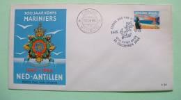 Netherlands Antilles (Curacao) 1965 FDC Cover - Medal Soldier Marine Guard - Anchor Cancel - Marine Birds - Antillen