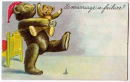 Teddy Bear Holding A Baby Teddy Bear - Bears