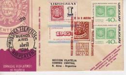 VUELO MONTEVIDEO-B.AIRES CONMEMORATIVO DE LA II MUESTRA Y JORNADAS FILATELICAS RIOPLATENSES URUGUAY  OHL - Uruguay