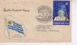 VUELO MONTEVIDEO - AMSTERDAM   KLM  AÑO 1977  OHL - Uruguay