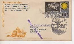 VUELO CONMEMORATIVO 30 AÑOS URUGUAYOS DE SAS  MONTEVIDEO-STOCKOLM 1946-1976  OHL - Uruguay