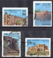 India 1984 Forts Set Of 4 Used - India