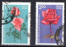 India 1984 Roses Set Of 2 Used - India