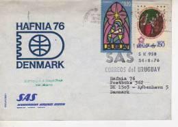 HAFNIA 76 DENMARK SAS   SK 958  24/8/76  OHL - Uruguay