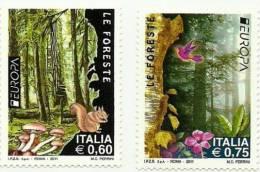 2011 - Italia 3286/87 Funghi - Paddestoelen